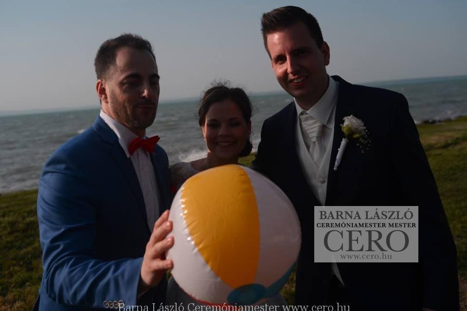 Balatoni esküvő, lagzi, ceremóniamester, cero, Barna László