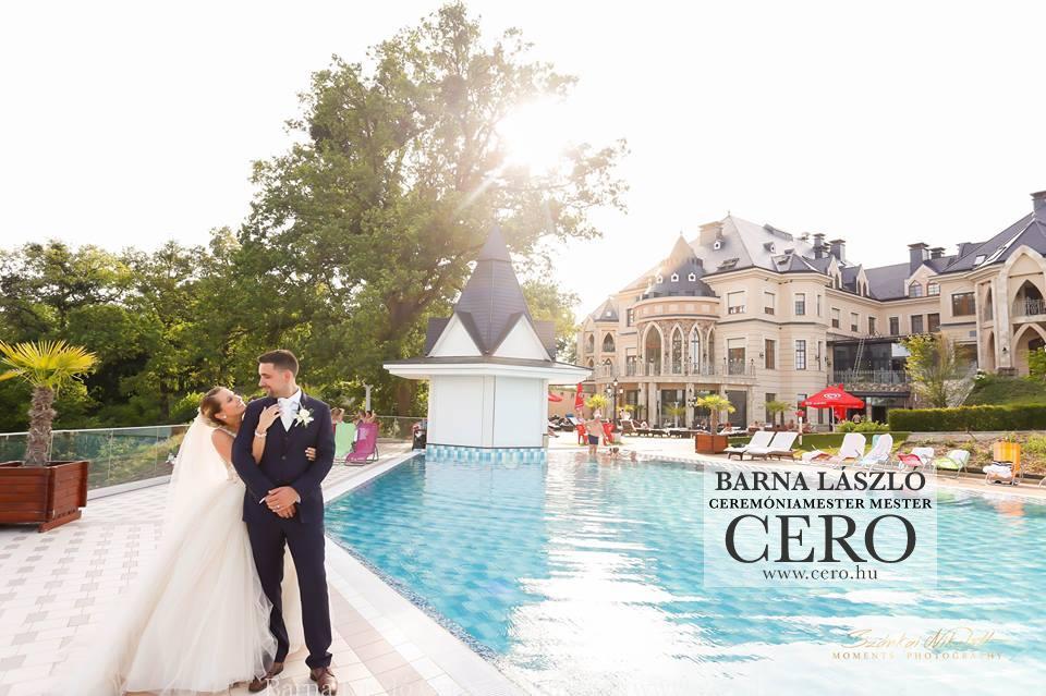 Ceremóniamester, ceró esküvő, Nyíradony, Borostyán Med, Barna
