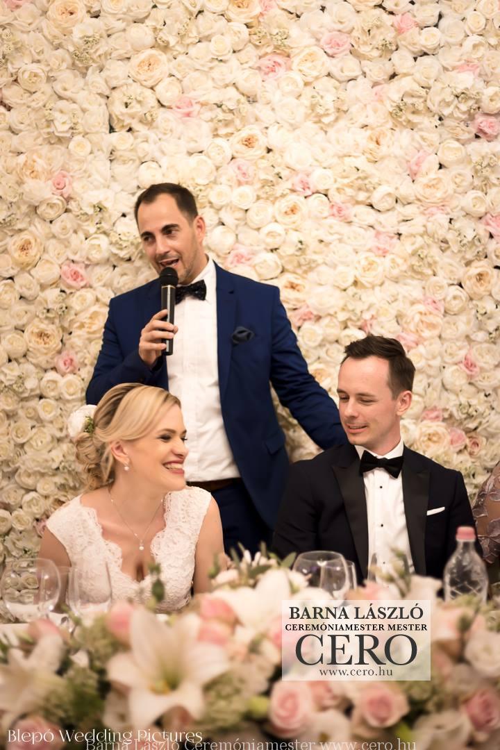 Ceremóniamester Parádsasvár, esküvő Barna László