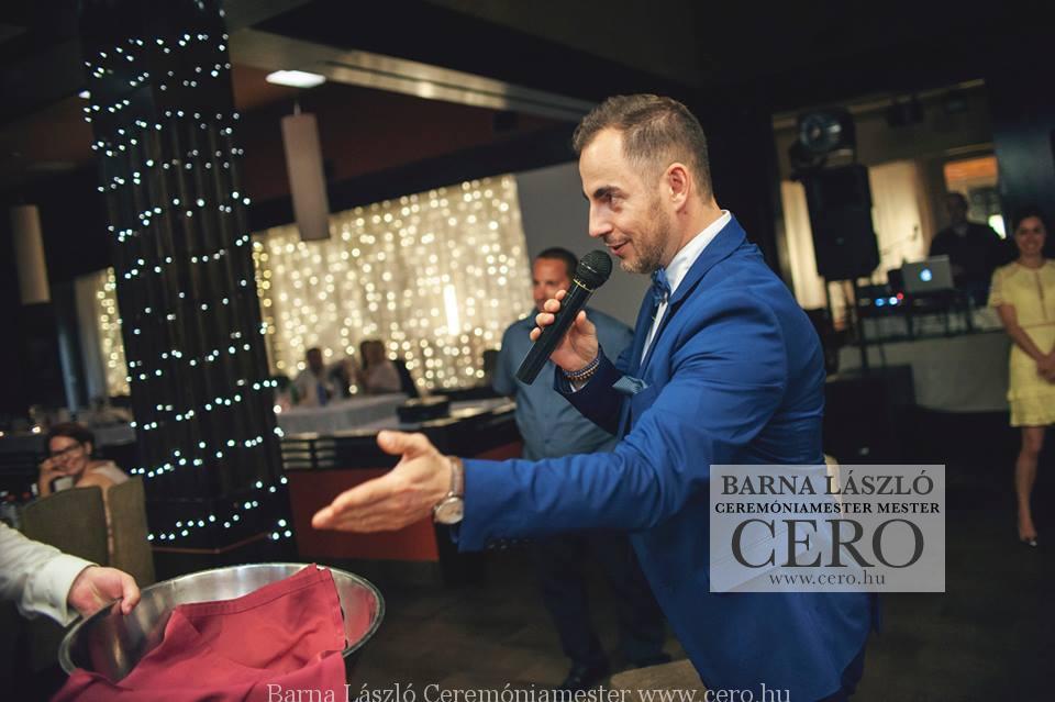 Ceremóniamester, esküvő képek Visegrádon a Sirály étteremben. Ceró: Barna László Ceremóniamester