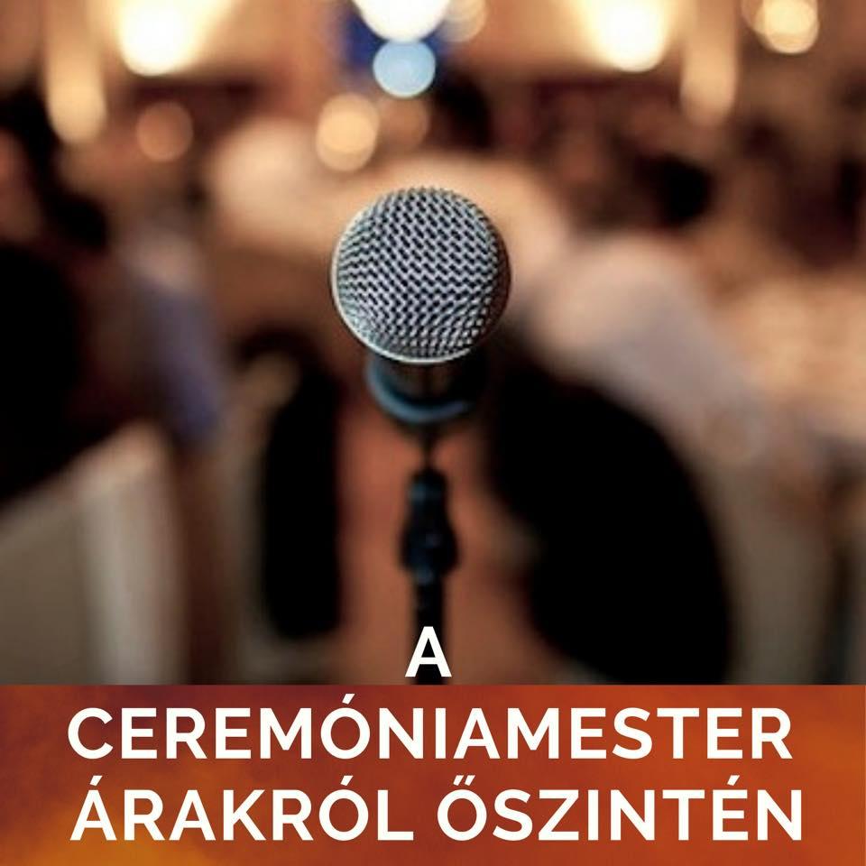 Ceremóniamester árak esküvő